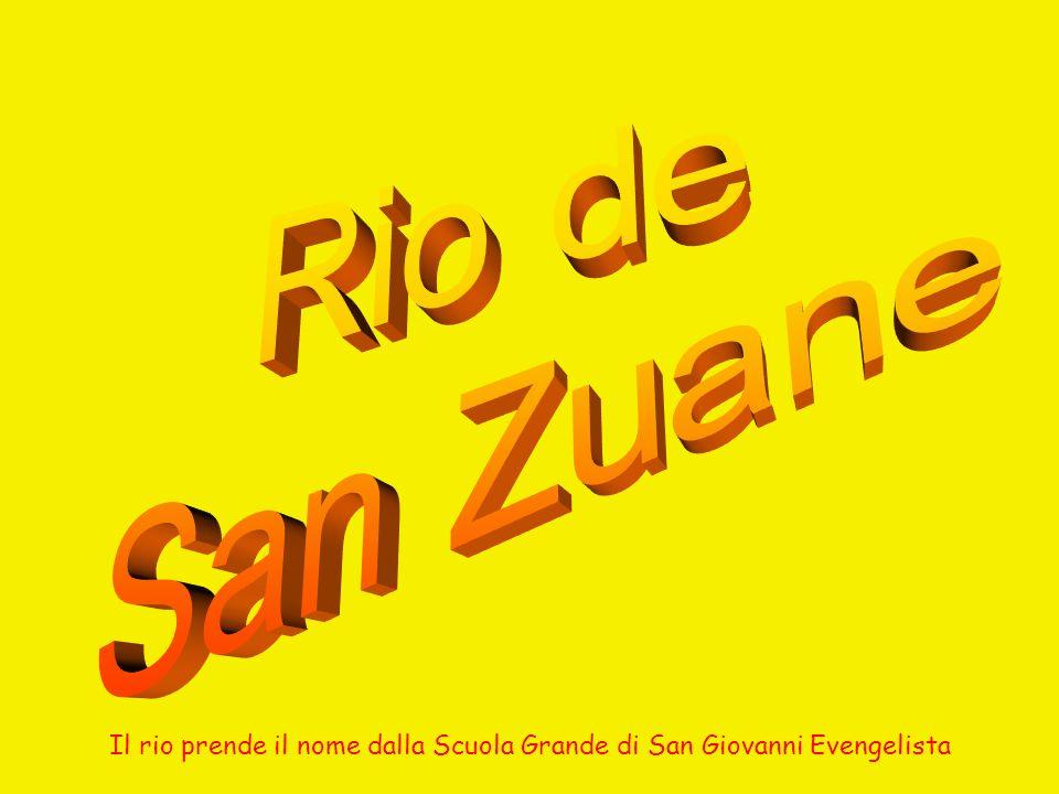 Il Rio de san Zuane evidenziato in giallo