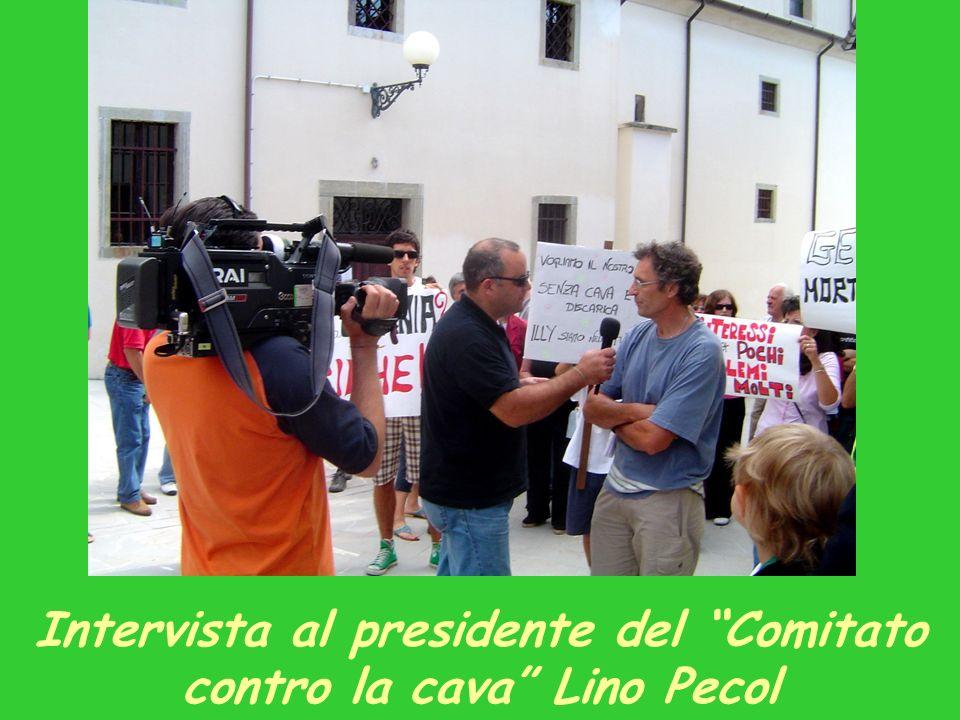 Intervista al presidente del Comitato contro la cava Lino Pecol
