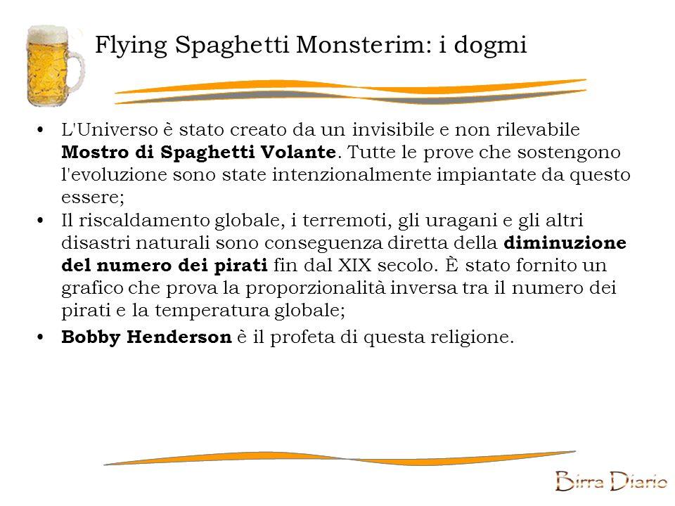 Flying Spaghetti Monsterim Il Flying Spaghetti Monsterism (anche citato come Pastafarianism) è una religione che parodizza il disegno intelligente.