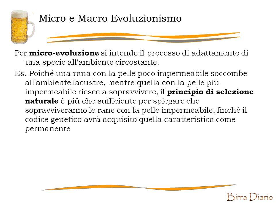 Evoluzionismo e Darwinismo Per evoluzionismo in genere si intende la capacità delle specie di progredire e di adattarsi all ambiente nel corso del tempo.