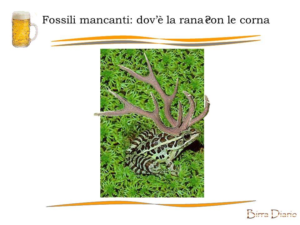 Fossili mancanti Affinché il migliore possa sopravvivere , bisogna che gli altri si estinguano.
