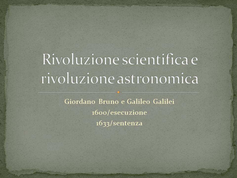 Fredda accoglienza delle tesi di Bruno anche da parte dei padri della rivoluzione scientifica Un cenno alle trasformazioni delle concezioni cosmologiche della scienza contemporanea.