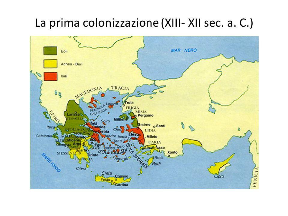 La prima colonizzazione (XIII- XII sec. a. C.)