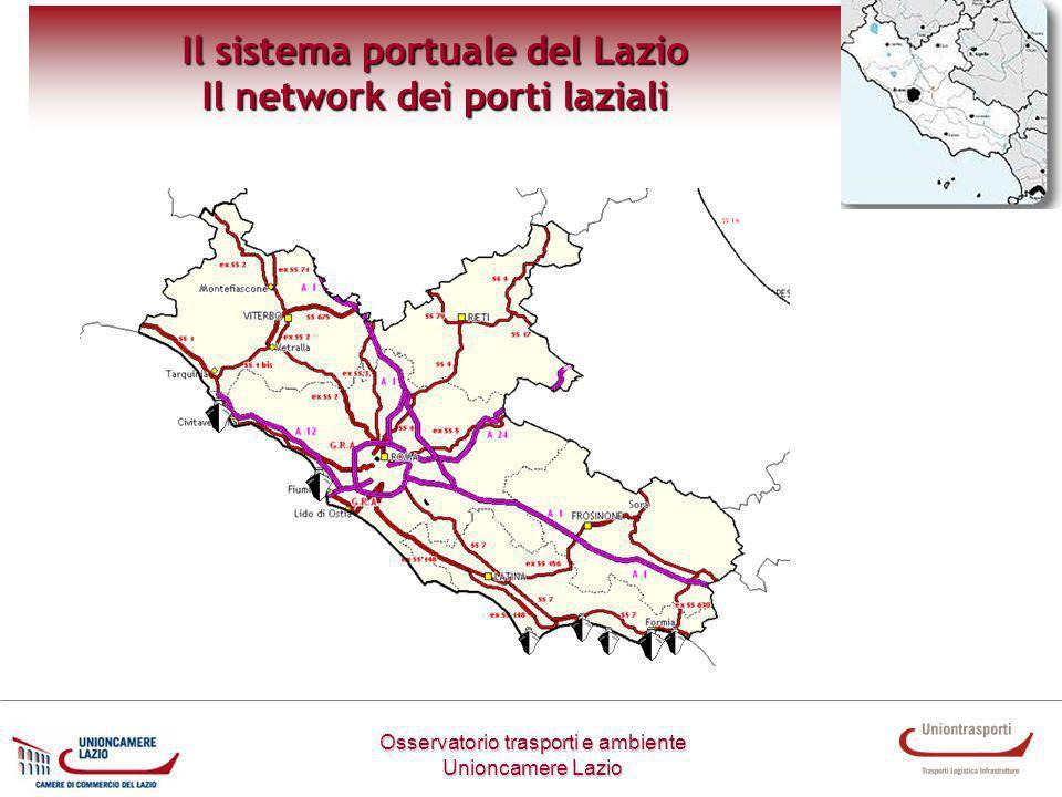 Osservatorio trasporti e ambiente Unioncamere Lazio Il sistema portuale del Lazio Il network dei porti laziali