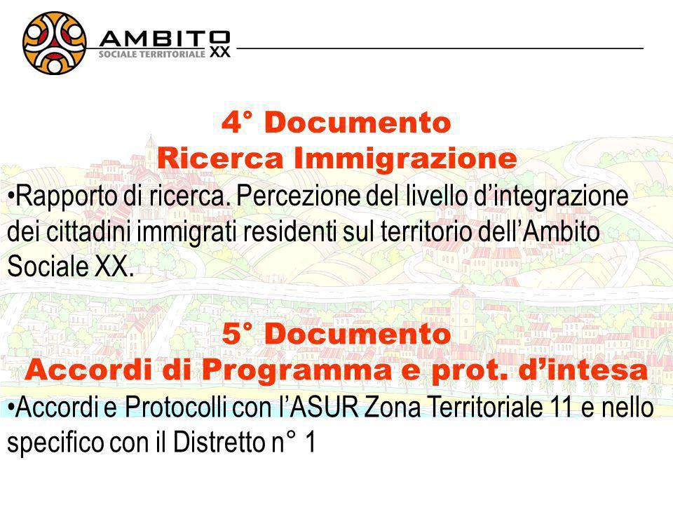 4° Documento Ricerca Immigrazione Rapporto di ricerca.