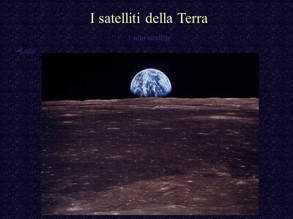 I satelliti della Terra 1 solo satellite Luna