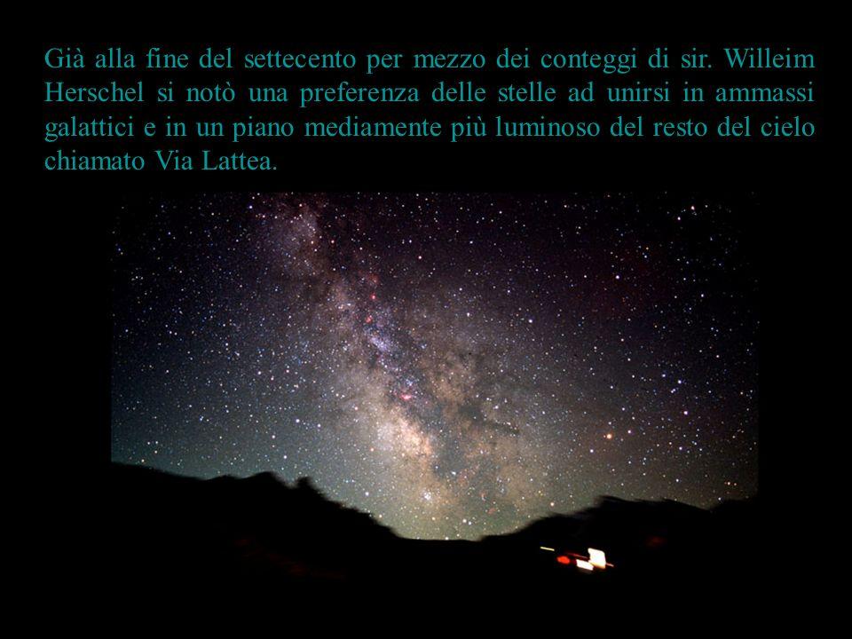 Nellottocento e nel novecento grazie allo studio dellevoluzione stellare si è compreso che tutte le stelle possono nascere in tre categorie di raggruppamenti: Gli ammassi globulariGli ammassi globulari Gli ammassi apertiGli ammassi aperti Le associazioniLe associazioni Poiché negli ammassi tutte le stelle sono nate contemporaneamente è possibile datare letà dellammasso, e studiare il processo evolutivo delle stelle grazie ad essi.