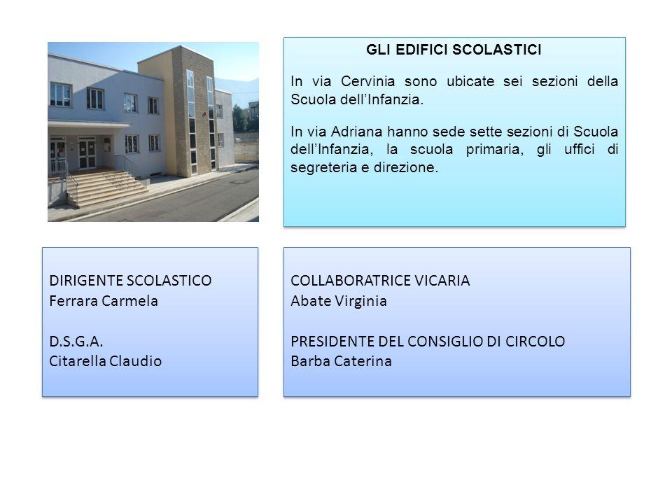 GLI EDIFICI SCOLASTICI In via Cervinia sono ubicate sei sezioni della Scuola dellInfanzia.