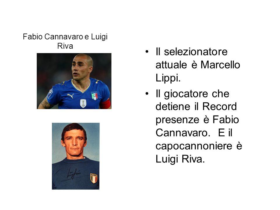 Fabio Cannavaro e Luigi Riva Il selezionatore attuale è Marcello Lippi.