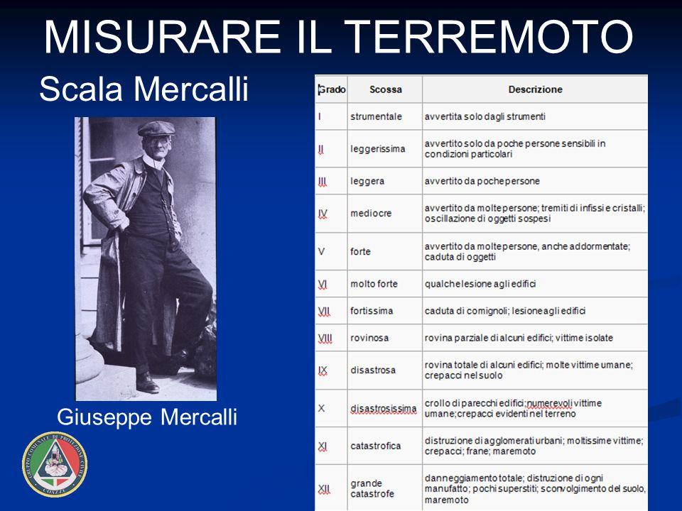 12 MISURARE IL TERREMOTO Giuseppe Mercalli Scala Mercalli