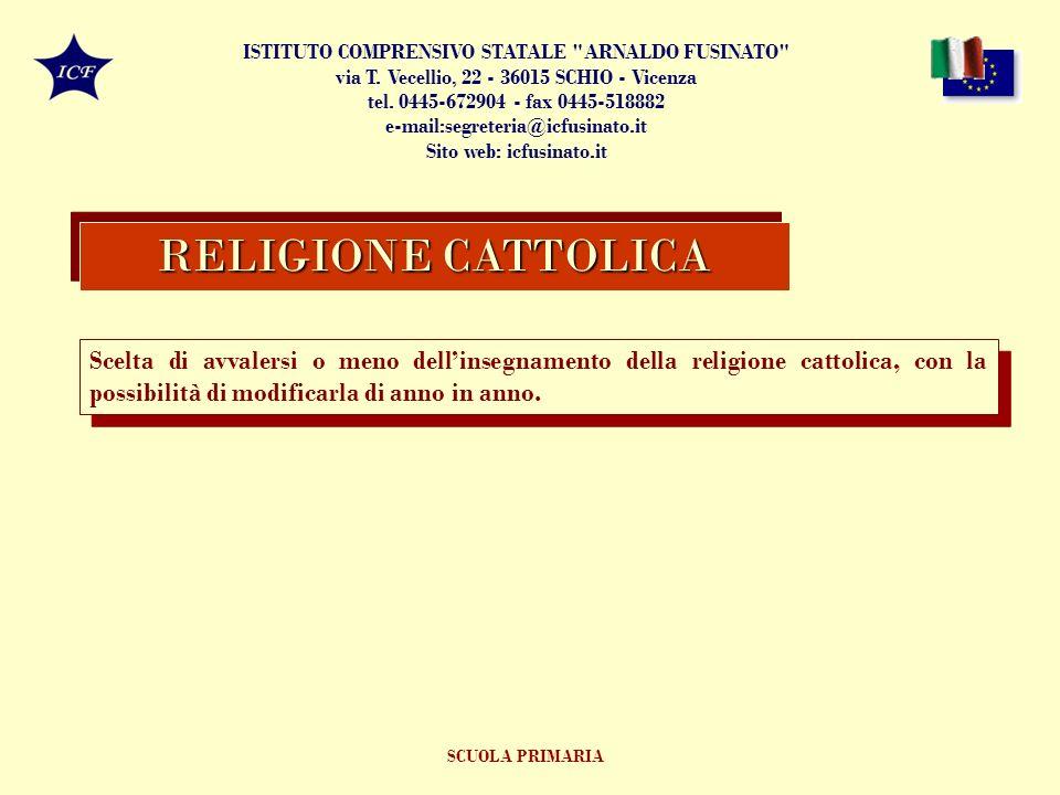 Scelta di avvalersi o meno dellinsegnamento della religione cattolica, con la possibilità di modificarla di anno in anno.