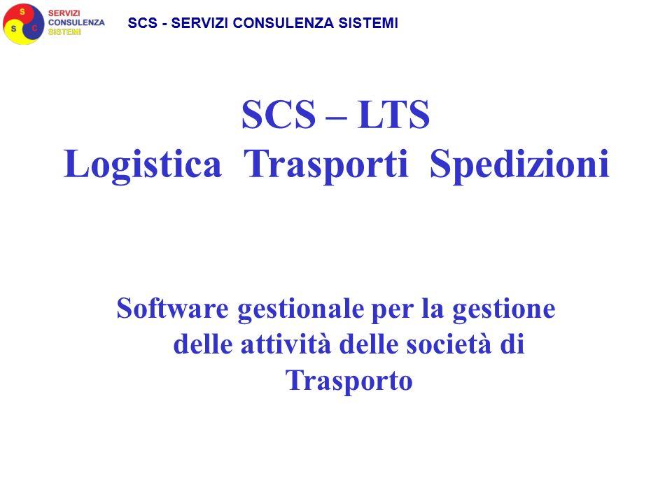 SCS – LTS Logistica Trasporti Spedizioni Software gestionale per la gestione delle attività delle società di Trasporto