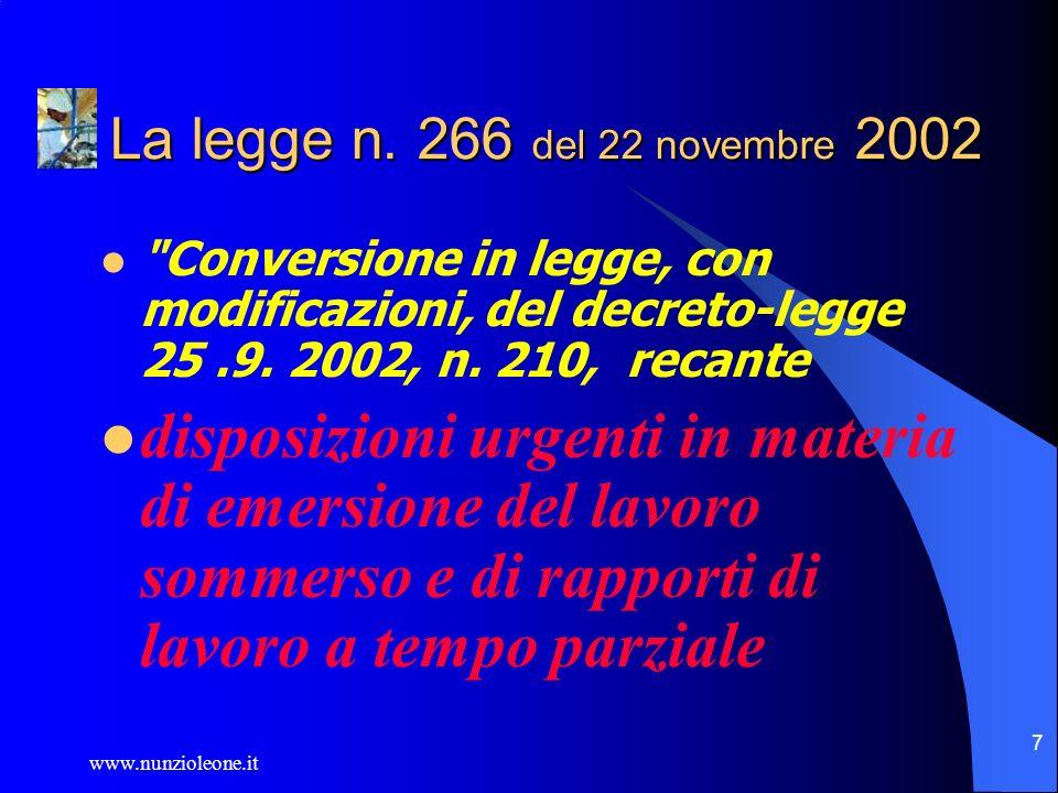 www.nunzioleone.it 7 La legge n.