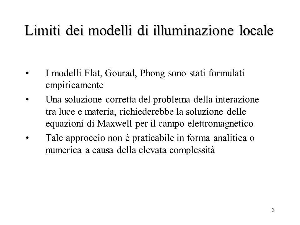 1 Modelli dilluminazione locale radiometrici Maurizio Rossi, Daniele Marini, Davide Selmo