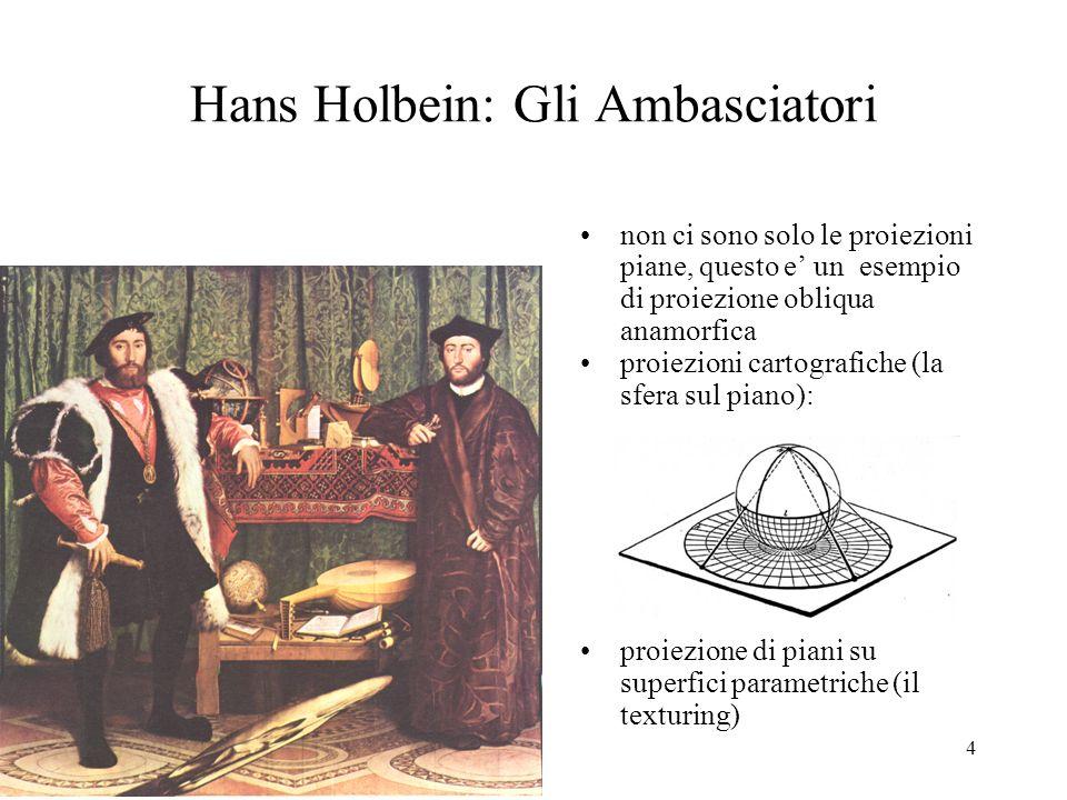 4 Hans Holbein: Gli Ambasciatori non ci sono solo le proiezioni piane, questo e un esempio di proiezione obliqua anamorfica proiezioni cartografiche (