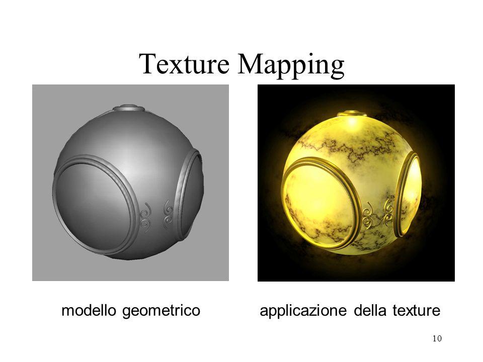 10 Texture Mapping modello geometrico applicazione della texture