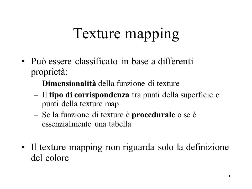 36 Texture mapping in due fasi S-mappingO-mapping