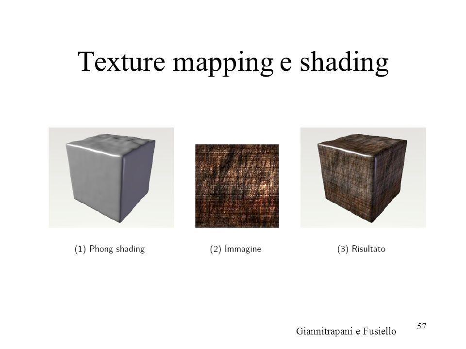 57 Texture mapping e shading Giannitrapani e Fusiello