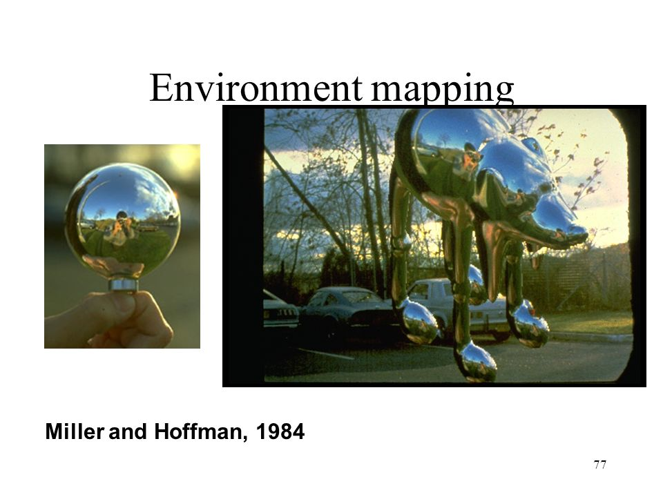 77 Environment mapping Miller and Hoffman, 1984