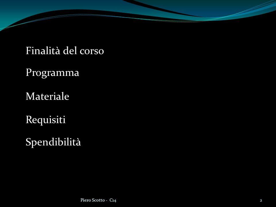13Piero Scotto - C14 #include int main(void) { int a, b, media; /* numeri di cui si calcola la media */ a = 8 ; /* assegno un valore ad a */ b = 6 ; /* assegno un valore a b */ media = (a + b)/2; /* calcolo il valore della media */ printf( La media dei valori e %d , media) ; return 0; }