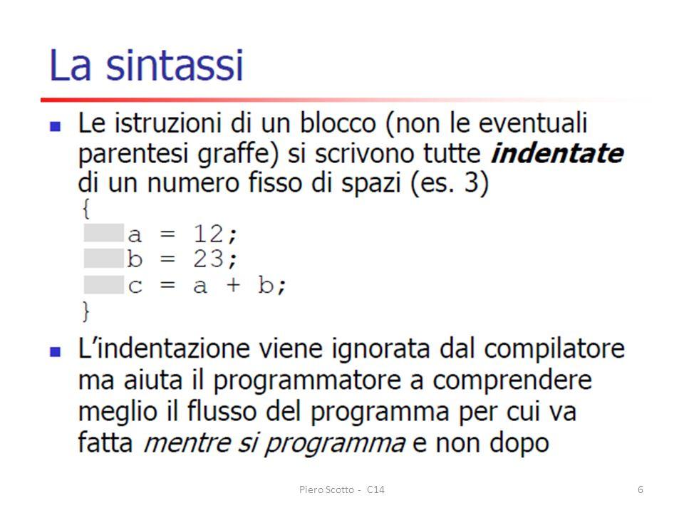 Finalità del corso Piero Scotto - C146