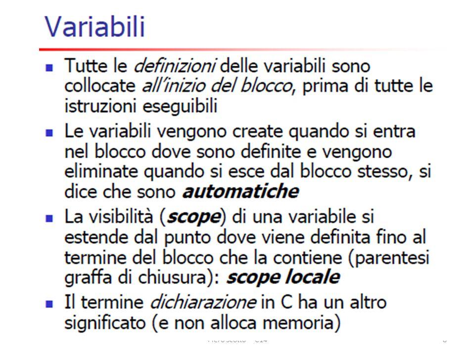 Finalità del corso Piero Scotto - C148