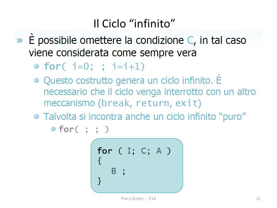 Piero Scotto - C1412 Il Ciclo infinito