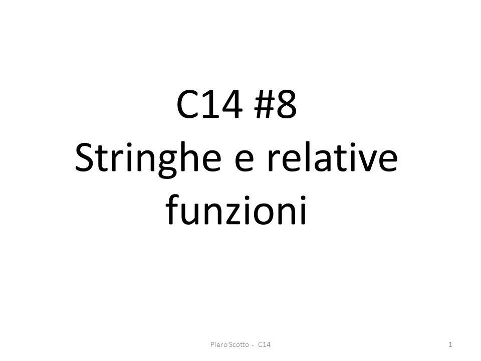 Piero Scotto - C141 C14 #8 Stringhe e relative funzioni