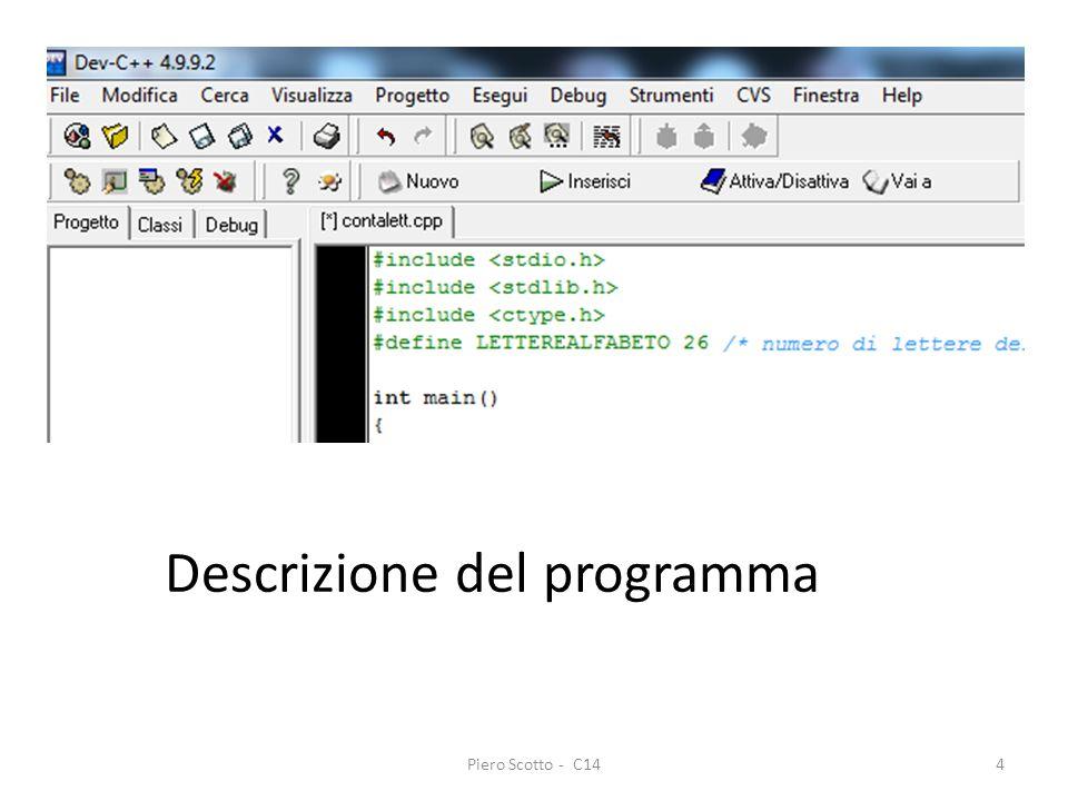 Piero Scotto - C144 Descrizione del programma