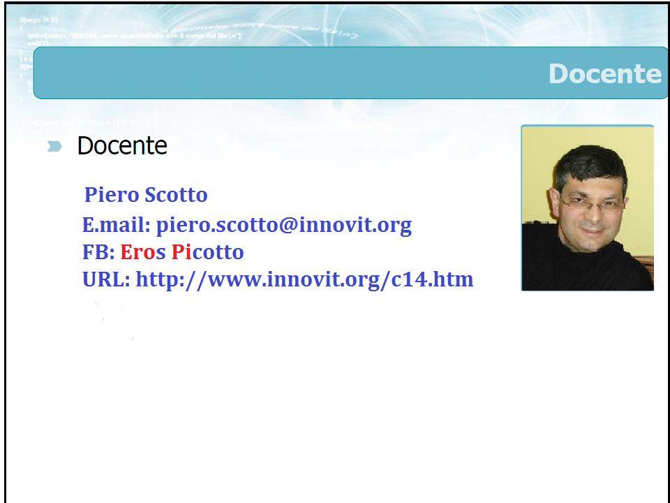 Finalità del corso Piero Scotto - C142