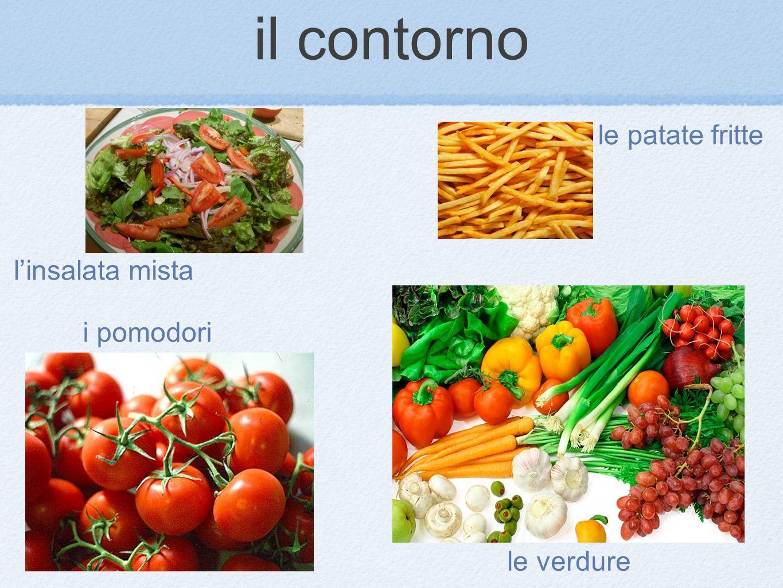 linsalata mista le patate fritte i pomodori le verdure