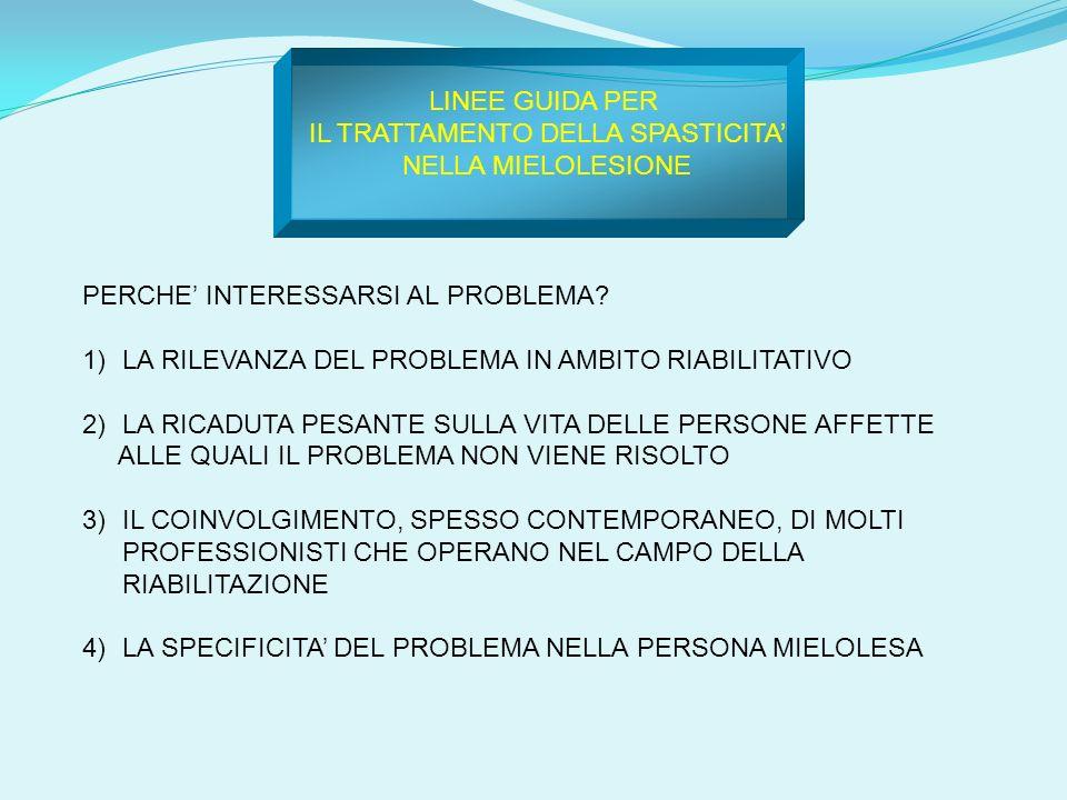 PERCHE INTERESSARSI AL PROBLEMA? 1)LA RILEVANZA DEL PROBLEMA IN AMBITO RIABILITATIVO 2)LA RICADUTA PESANTE SULLA VITA DELLE PERSONE AFFETTE ALLE QUALI