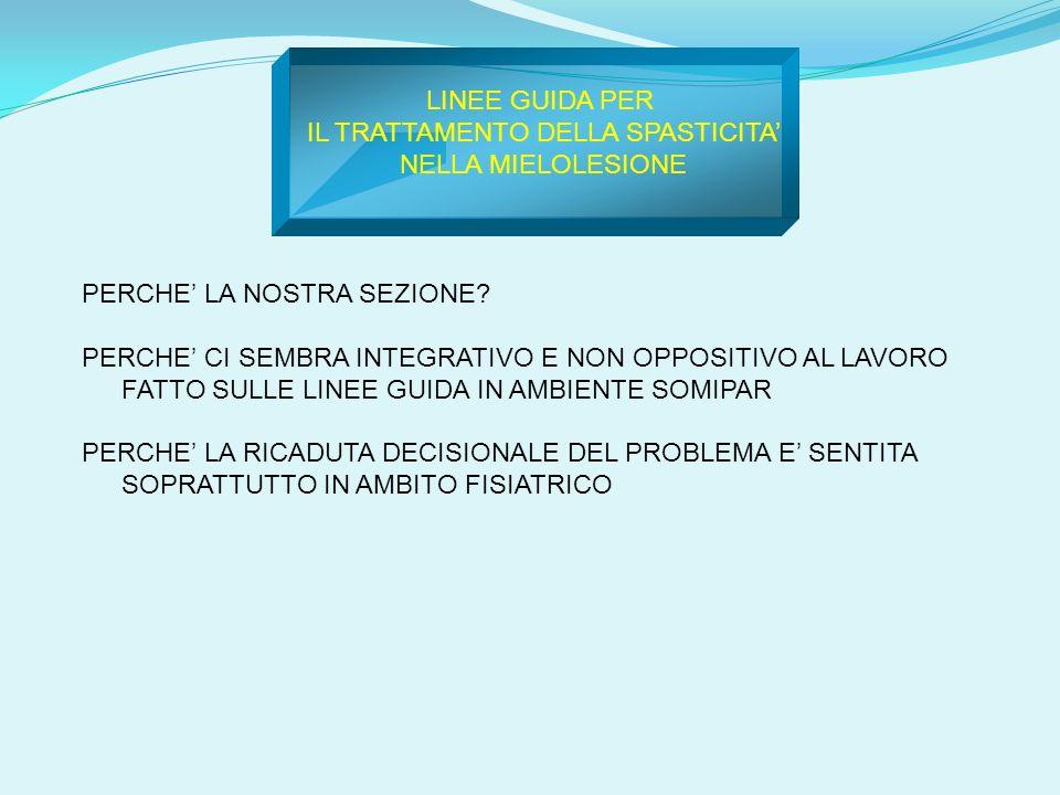 PERCORSO ASSISTENZIALE DELLA SPASTICITA Colonna Tagliente Marsano Di Candia fabio.colonna@sanraffaele.it andrea_dicandia@yahoo.it marika.marsano@sanraffaele.itmarika.marsano@sanraffaele.it, vincenzo.tagliente@sanraffaele.it KEY WORDS: outcome measure, caregiver, SCI, spasticity evaluation, hypertonia