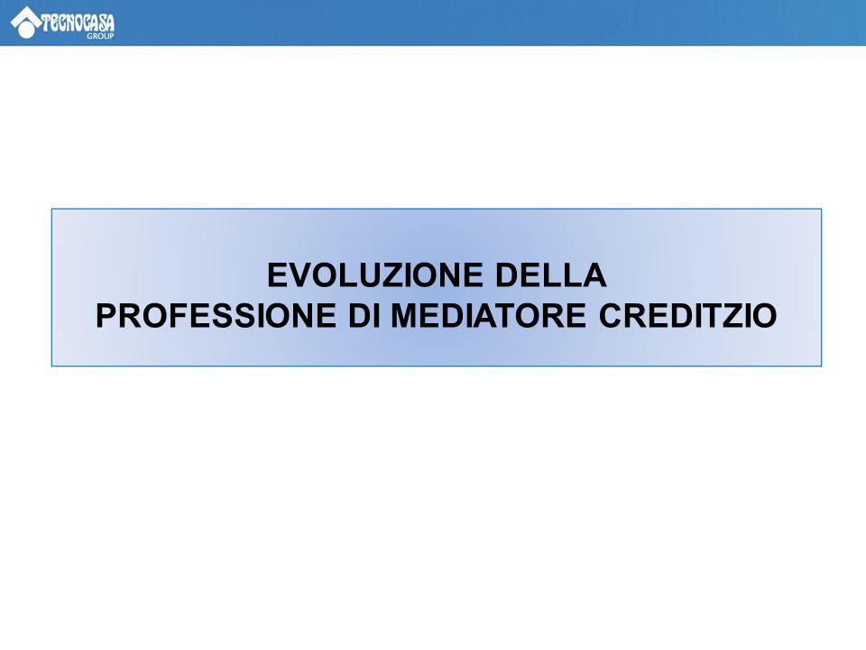 EVOLUZIONE DELLA PROFESSIONE DI MEDIATORE CREDITZIO