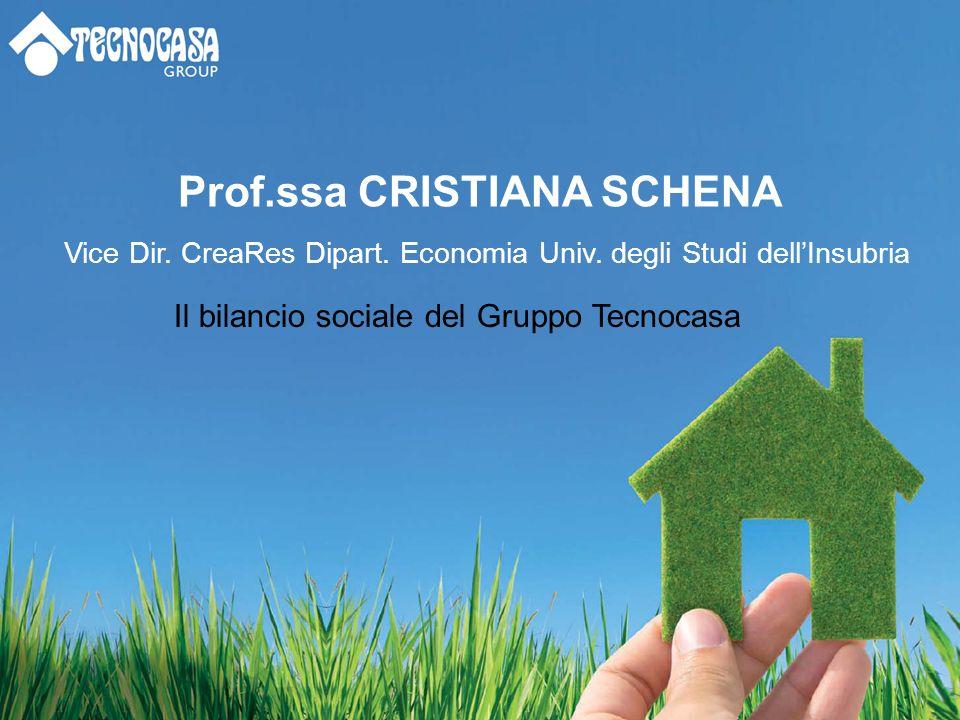 Prof.ssa CRISTIANA SCHENA Vice Dir. CreaRes Dipart.