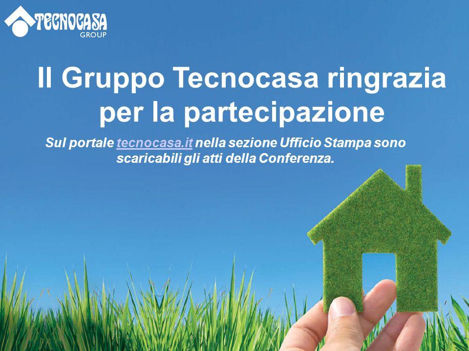 Il Gruppo Tecnocasa ringrazia per la partecipazione Sul portale tecnocasa.it nella sezione Ufficio Stampa sono scaricabili gli atti della Conferenza.tecnocasa.it