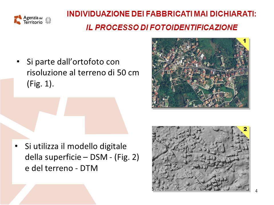 4 Si parte dallortofoto con risoluzione al terreno di 50 cm (Fig.