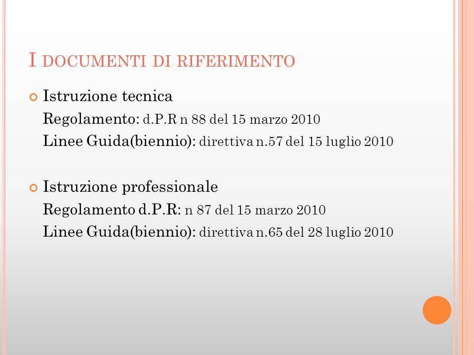 I STRUZIONE TECNICA SETTORE ECONOMICO Amministrazione, Finanza e Marketing (B1); Turismo (B2).