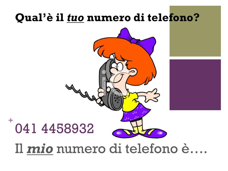+ 041 4458932 Il mio numero di telefono è…. Qualè il tuo numero di telefono?