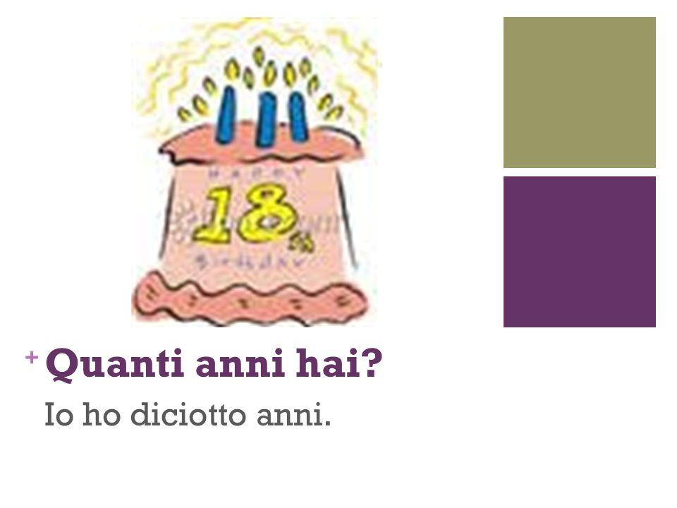 Domande 1.Quando (when) è la festa.2.Quanti anni ha Federico.