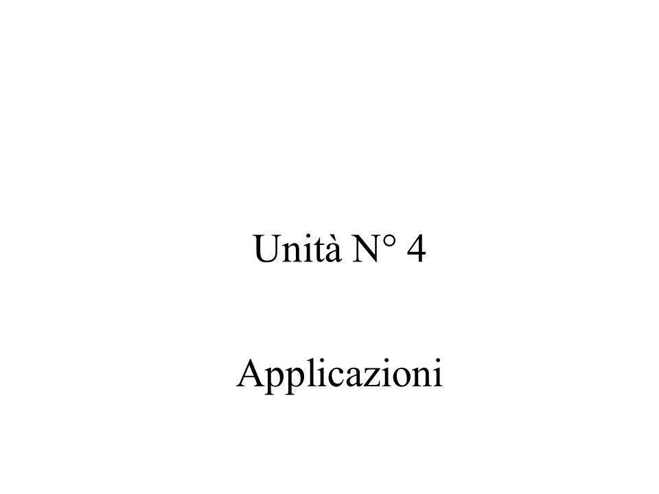 Unità N° 4 Applicazioni