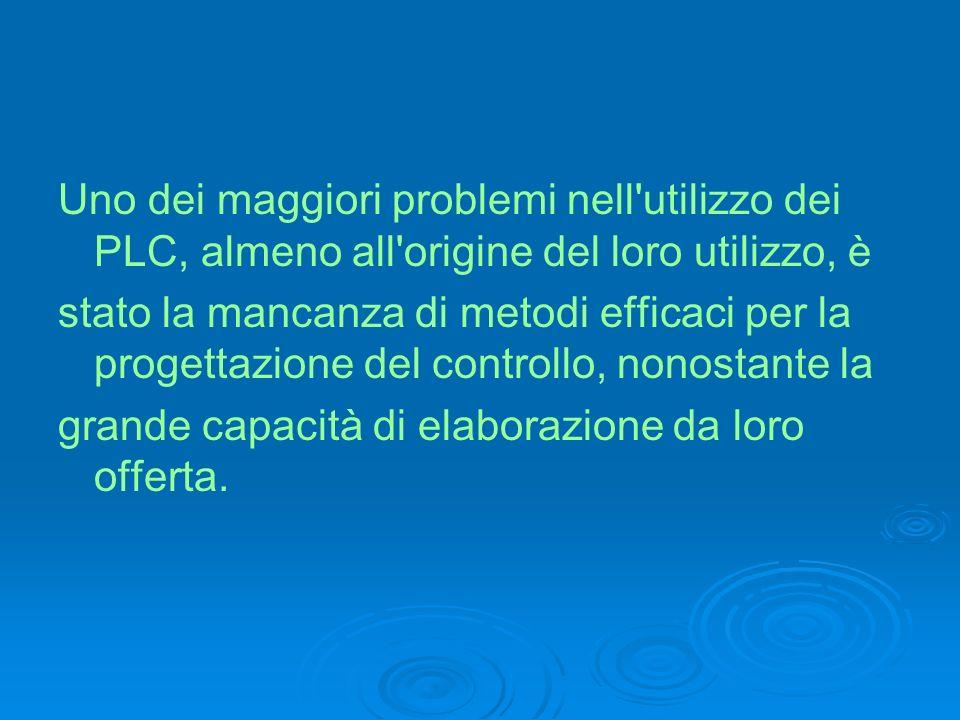 Uno dei maggiori problemi nell'utilizzo dei PLC, almeno all'origine del loro utilizzo, è stato la mancanza di metodi efficaci per la progettazione del
