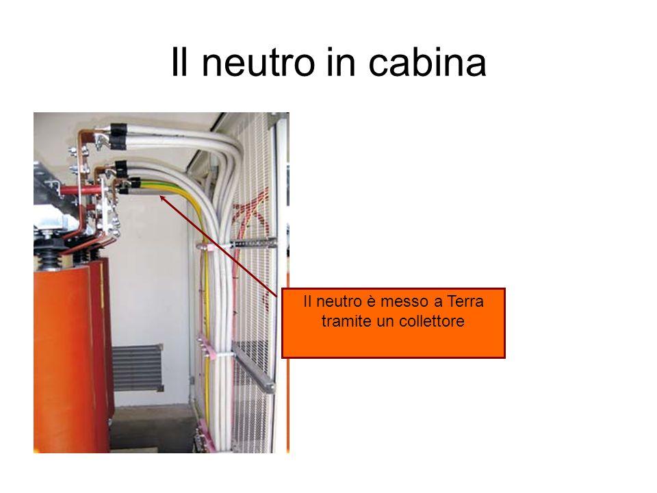 Il neutro in cabina Il neutro è messo a Terra tramite un collettore