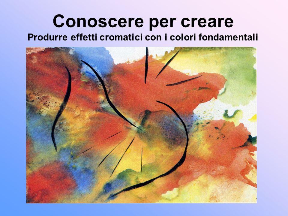 Conoscere per creare Produrre effetti cromatici con i colori fondamentali