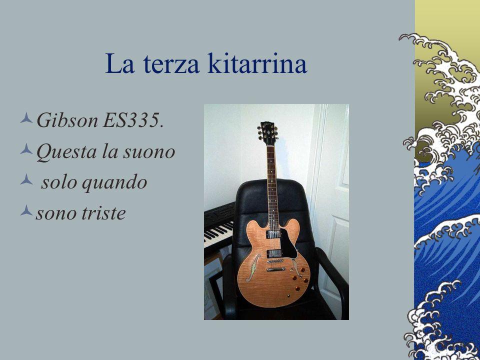 La terza kitarrina Gibson ES335. Questa la suono solo quando sono triste