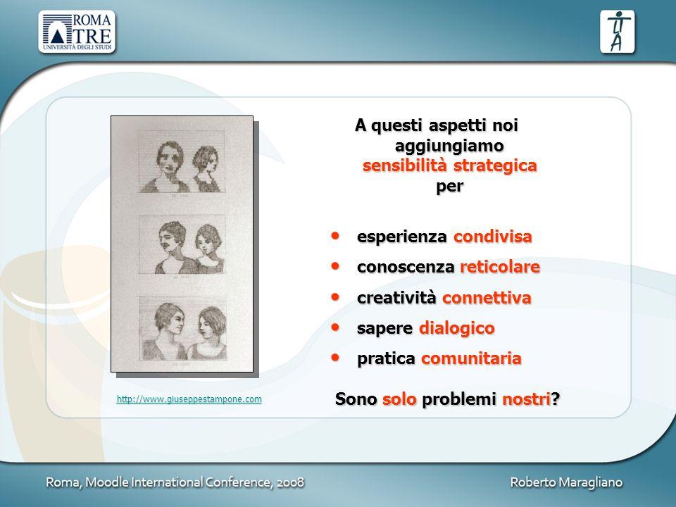 A questi aspetti noi aggiungiamo sensibilità strategica per esperienza condivisa esperienza condivisa conoscenza reticolare conoscenza reticolare crea