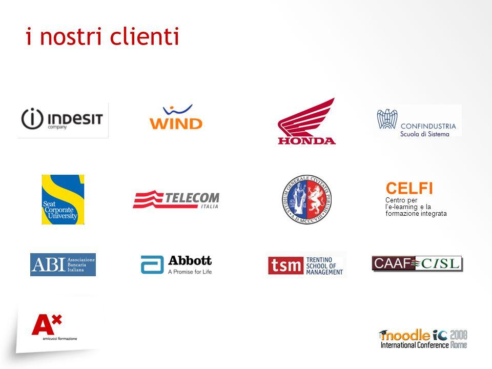 i nostri clienti CELFI Centro per l e-learning e la formazione integrata
