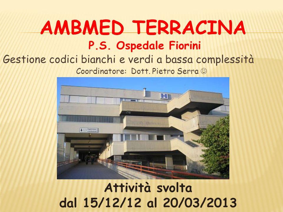 AMBMED TERRACINA ACCESSI DAL 15/12/12 AL 15/03/13 CODICE TRIAGE 252 243 204 TOT.699