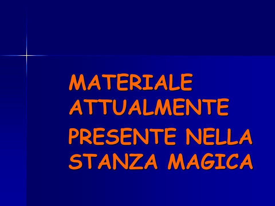 MATERIALE ATTUALMENTE PRESENTE NELLA STANZA MAGICA