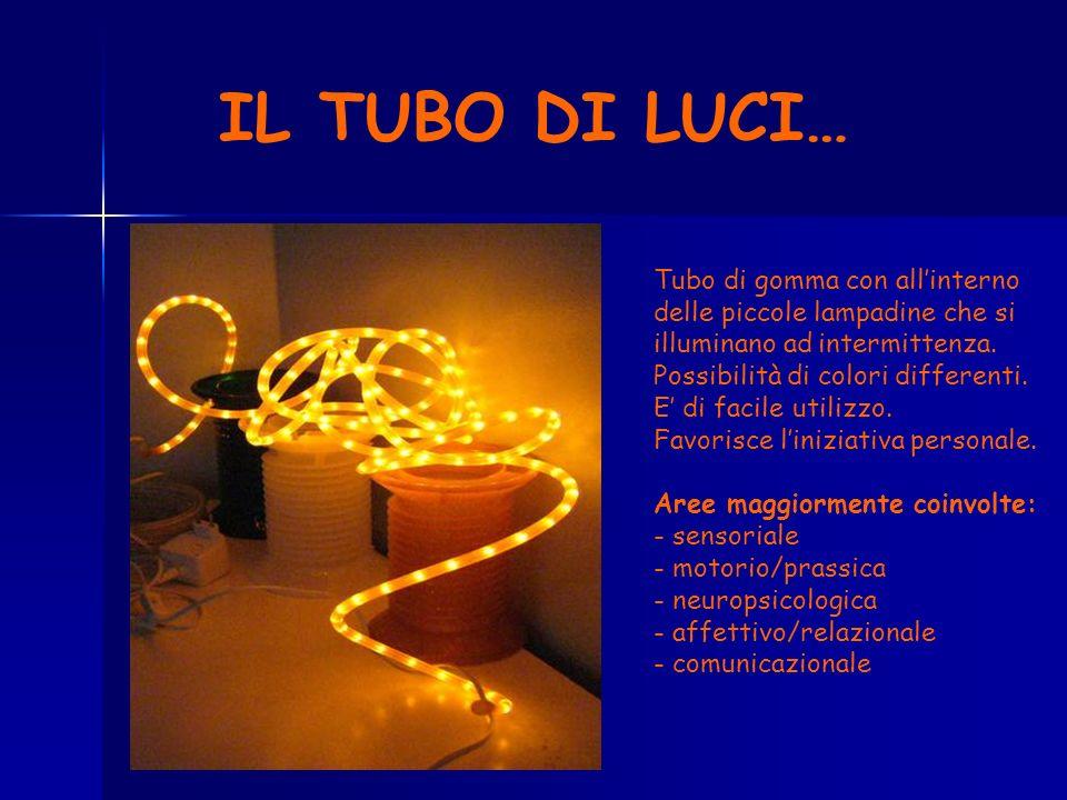 IL TUBO DI LUCI… Tubo di gomma con allinterno delle piccole lampadine che si illuminano ad intermittenza. Possibilità di colori differenti. E di facil